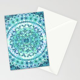 Aqua Mosaic Mandala Stationery Cards