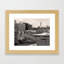 Ann Arbor City Roofs Framed Art Print