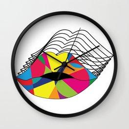 Hypnotizing Lips Wall Clock