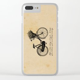 Albert Einstein - Life is Like Riding a Bicycle Clear iPhone Case
