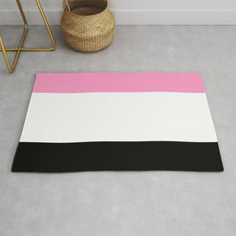 Just three colors 3 pink,white,black Rug