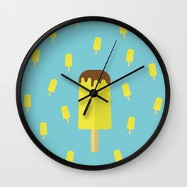 Summer time ice cream popsicle Wall Clock