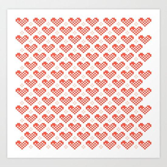 PX heart Art Print