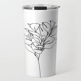 Plant one line drawing illustration - Marah Travel Mug