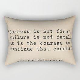 Churchill quote 9 Rectangular Pillow