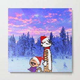 Calvin Christmas Metal Print
