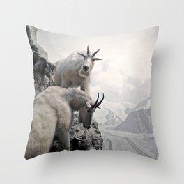 Hi, we are the mountain goats Throw Pillow