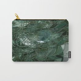Green glass geometric structure pattern beautiful illustration Carry-All Pouch