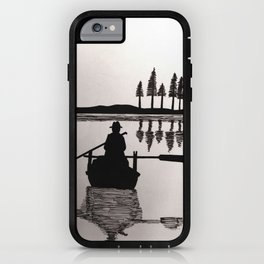 Two men on a voyage iPhone Case