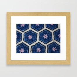 African Flower Crochet Framed Art Print