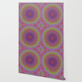 Color Displacement Mandala Wallpaper