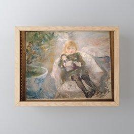 Berthe Morisot - Enfant au fauteuil Framed Mini Art Print