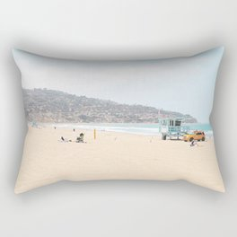 Redondo Beach // California Ocean Vibes Lifeguard Hut Surfing Sandy Beaches Summer Tanning Rectangular Pillow