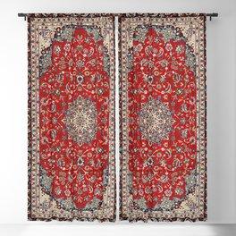 Fine Silk & Wool Isfahan Persian Rug Print Blackout Curtain