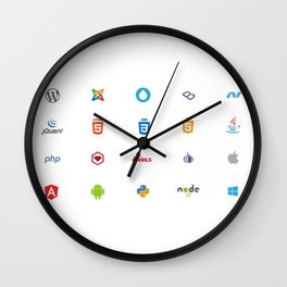 Programming Logos / Symbols Wall Clock