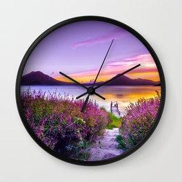 Lake Atitlán, Guatemala. Wall Clock