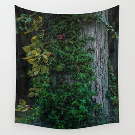 Ivy upon the Tree (Color) Wall Tapestry