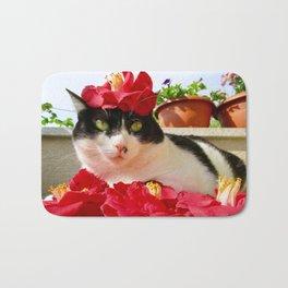 Khoshek charming kitty Bath Mat