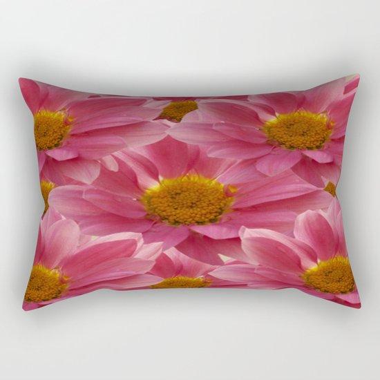 Pink Floral Bouquet Rectangular Pillow