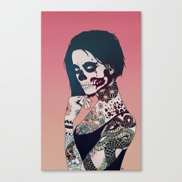 Snake Lady Canvas Print