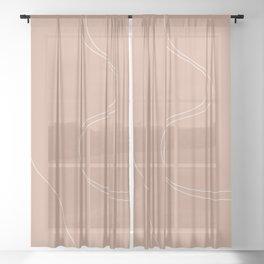 MINIMAL LANDSCAPE I Sheer Curtain