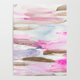 Modern Fluid Abstract Colors Composition Poster