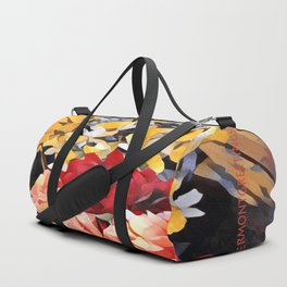 Peaches and Cream Floral Bouquet Duffle Bag