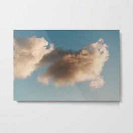Fairy Floss Clouds Metal Print
