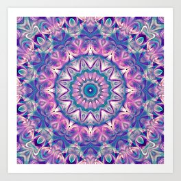 Flower Of Life Mandala (Orchid's Touch) Art Print