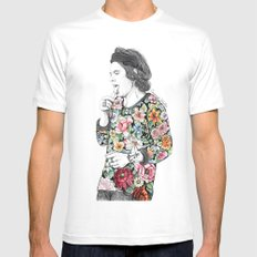 Harry  sketch  Mens Fitted Tee White MEDIUM