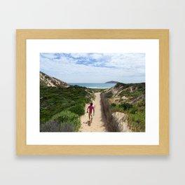 Wandering Surfer Framed Art Print