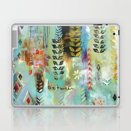 """Fly Free Between"" Original Painting by Flora Bowley Laptop & iPad Skin"