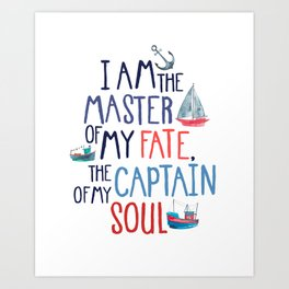 Nautical Typography Art Print