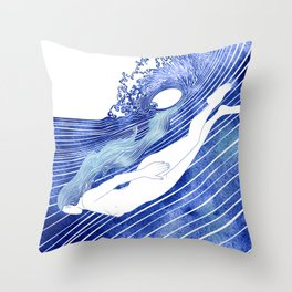 Kymothoe Throw Pillow