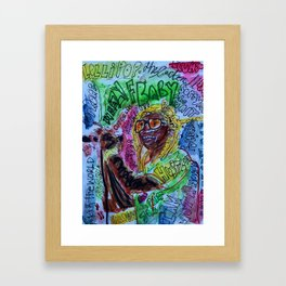 wayn,small,poster,drawing,painting,singer,rapper,rap,wall art,fan art,cool,dope,original,graffiti Framed Art Print
