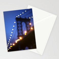 Manhattan Bridge at Night Stationery Cards