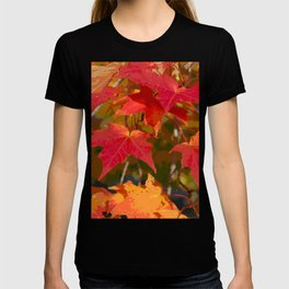 Fiery Autumn Maple Leaves 4966 T-shirt