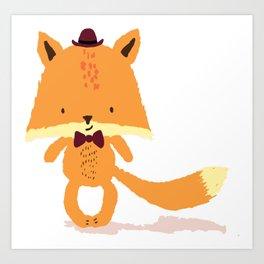 Mr Foxy Art Print