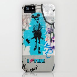 I Hate Fake iPhone Case