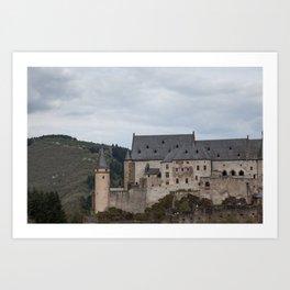 Vianden Castle Art Print