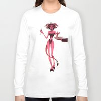 cocktail Long Sleeve T-shirts featuring Bloody cocktail by JackPot