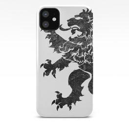 Lion Rampant - Black Weathered iPhone Case
