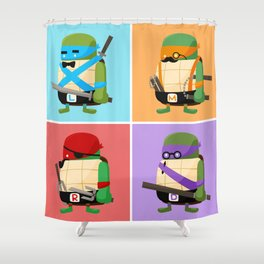 Turtles in Disguise Shower Curtain