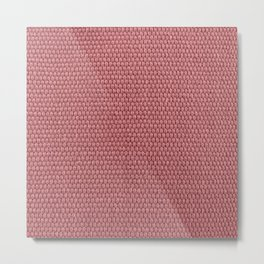 Woven Texture RED Quartz Metal Print