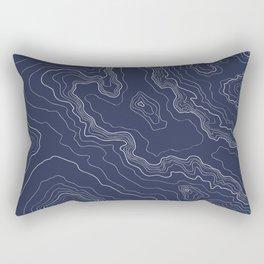 Navy topography map Rectangular Pillow