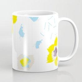Blue & Yellow Patterns Coffee Mug