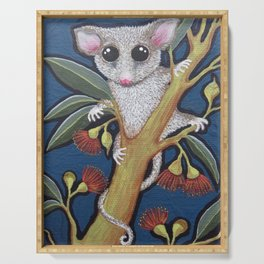 Pygmy Possum and Red Gum Blossoms Serving Tray