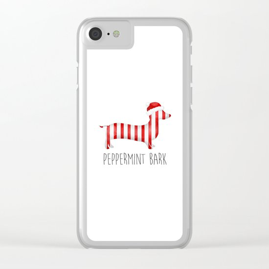 Peppermint Bark Clear iPhone Case