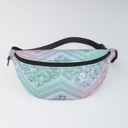 Mermaid Glitter Chevron #2 #shiny #pastel #decor #art #society6 Fanny Pack