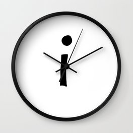 I Monogram (Hand 2) Wall Clock